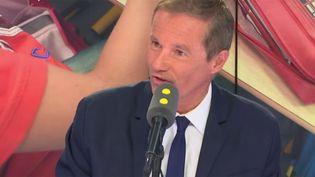 Le président de Debout la France, Nicolas Dupont-Aignan, invité de franceinfo lundi 17 septembre 2018. (RADIO FRANCE / FRANCE INFO)