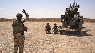 Des soldats de la task force Wagram, le 13 juillet 2017 près de Mossoul (Irak). (FADEL SENNA / AFP)