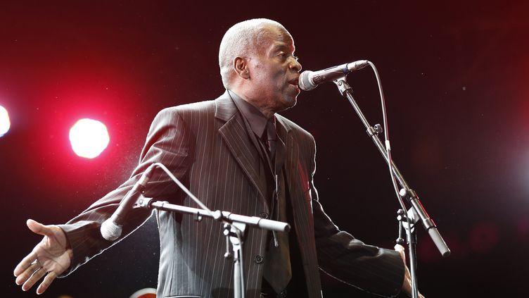 Maceo Parker au Festival de jazz de Nice en 2013  (VALERY HACHE / AFP)