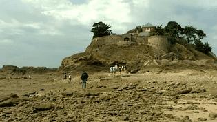 L'île du Guesclin est uniquement accessible à pied et à marée basse.  (capture d'écran France 3 / Culturebox)