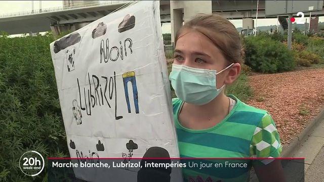 Un jour en France : Lubrizol, orages en Ardèche, marche blanche à Marseille, l'actualité du 26 septembre