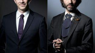 Benjamin Griveaux (G) et Cédric Villani (D), candidats à la mairie de Paris, le 7 septembre 2019 (montage photo). (JOEL SAGET / AFP)