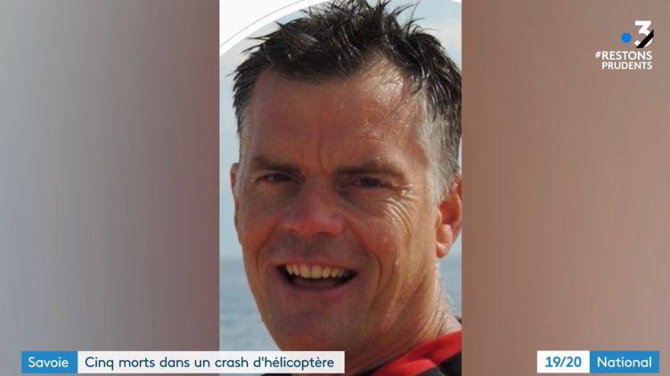 Le brigadier Stéphane Le Meur, 39 ans, est mort lors du crash d'un hélicoptère en Savoie, le 8 décembre 2020. (FRANCE 3)