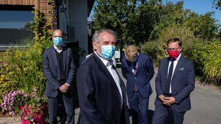 François Bayrou lors les journées parlementaires du Modem en septembre 2020, à Sanguinet (Landes). (DAVID THIERRY / MAXPPP)
