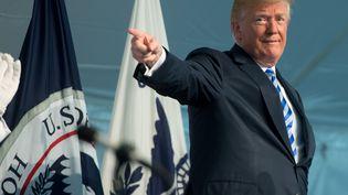 Donald Trump au siège des garde-côtes américains à Washington, le 1er juin 2018. (SAUL LOEB / AFP)
