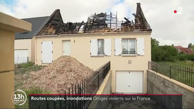 France : des orages violents provoquent de nombreux dégâts
