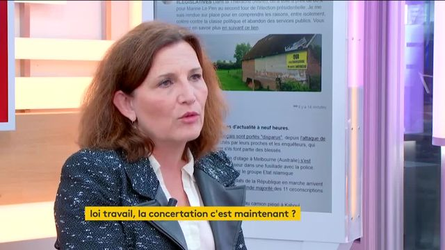 """Invitée de Jean-Paul Chapel dans """":L'éco"""", mardi 6 juin, Véronique Descacq, secrétaire générale adjointe de la CFDT, pose des conditions pour la future loi travail."""