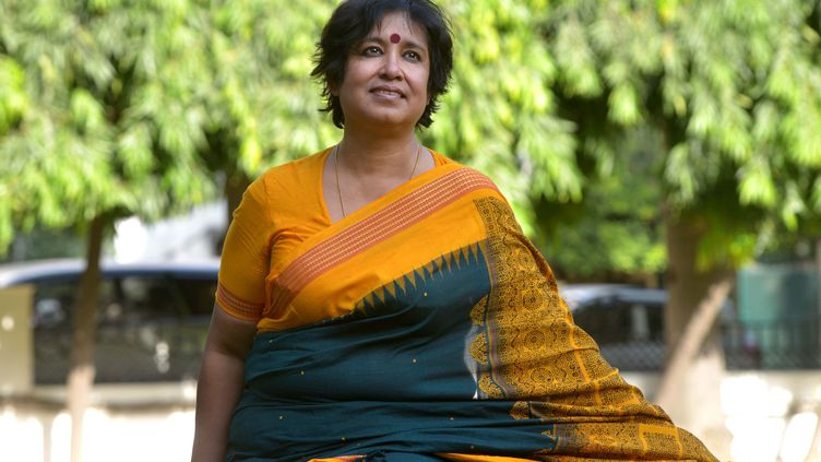 L'écrivaine Taslima Nasreen lors d'une interview à New Dehli (Inde) en 2016. (INDIA TODAY/SIPA / THE INDIA TODAY GROUP)