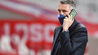 Le président du LOSC, Olivier Létang, ici le 16 mai 2021, connaît une première intersaison compliquée à la tête du club nordiste. (DENIS CHARLET / AFP)