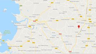 Bignay (Charente-Maritime). (CAPTURE D'ECRAN GOOGLE MAPS)