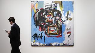 Ce tableau de Jean Michel Basquiat a battu un record en mai dernier. Il a été acheté 110,5 millions de dollars par le collectionneur japonais Yusaku Maezawa  (John Angelillo / UPI / MaxPPP)