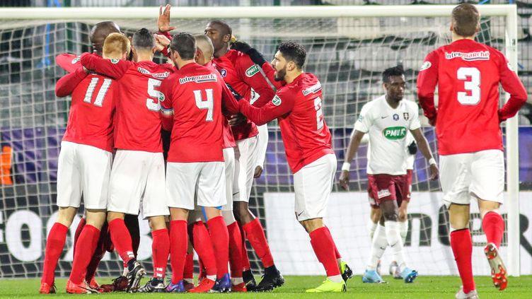Les Rouennais éliminent les Messins, le 6 janvier 2020 en Coupe de France. (LOU BENOIST / AFP)