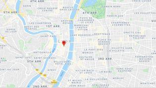 Le braquage s'est produit rue Thomassin, dans le centre de Lyon. (GOOGLE MAPS)