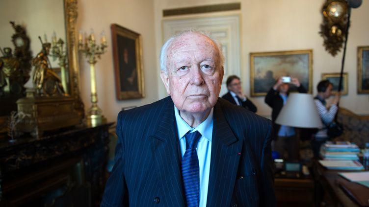 Jean-Claude Gaudin, le maire de Marseille le 14 avril 2016 à Marseille. (BERTRAND LANGLOIS / AFP)