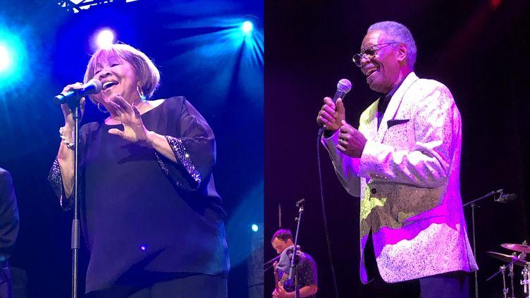 Mavis Staples et Don Bryant sur la scène de Fourvière (Lyon) le 6 juillet (Jean-François Convert)