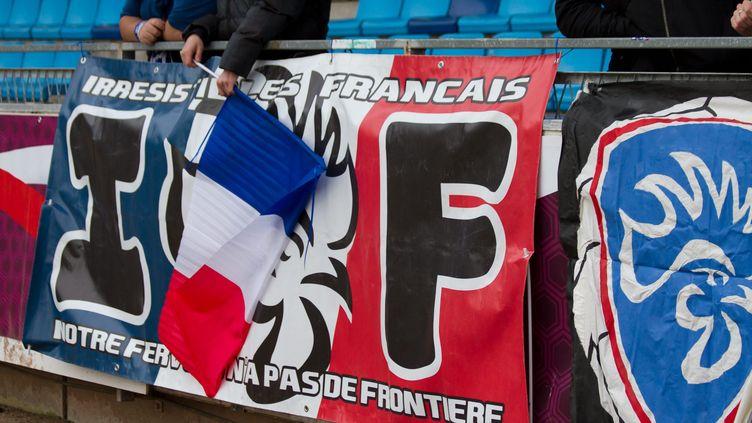"""Les Irrésistibles français prêts à se montrer """"responsables"""" pour pouvoir soutenir les Bleus dans les gradins (illustration). (©WILLIAM MORICE / MAXPPP)"""