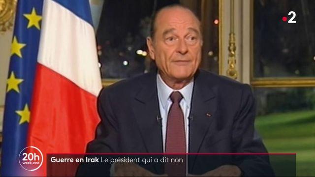 "Mort de Jacques Chirac : un président qui a dit ""non"" à la guerre en Irak"
