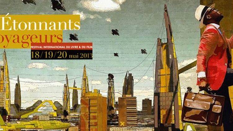 L'affiche de l'édition 2013 du festival Etonnants Voyageurs.  (DR)