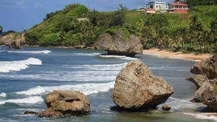 Le village de Bathsheba, sur la côte est de la Barbade. (PHILIPPE TURPIN / MAXPPP)