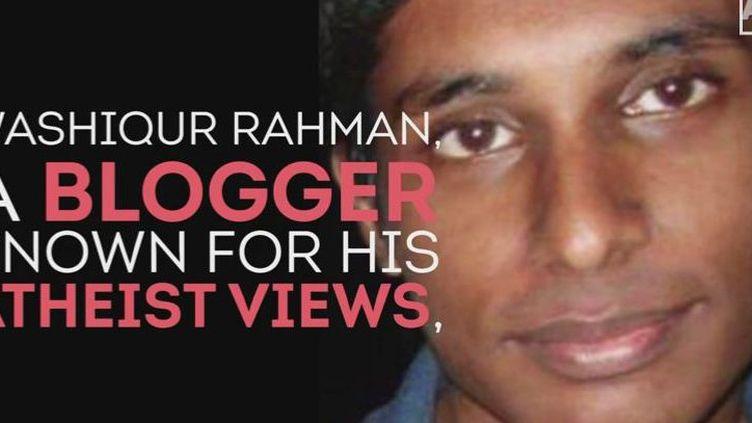 Le blogueur Washiqur Rahman. (Géopolis/FTV/Capture d'écran)