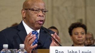 Le représentant démocrate de Géorgie, John Lewis, le 11 janvier 2017, au Capitole à Washington (Etats-Unis). (RON SACHS / DPA / AFP)