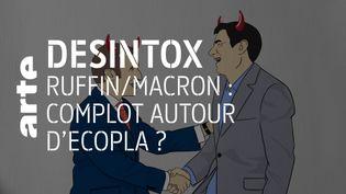 Non, il n'y a pas eu de connivence entre Emmanuel Macron et François Ruffin sur ECOPLA (ARTE/LIBÉRATION/2P2L)