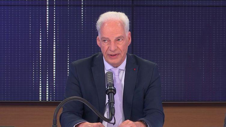 Le ministre délégué chargé des PME, Alain Griset, sur franceinfo le lundi 2 août 2021. (FRANCEINFO / RADIOFRANCE)