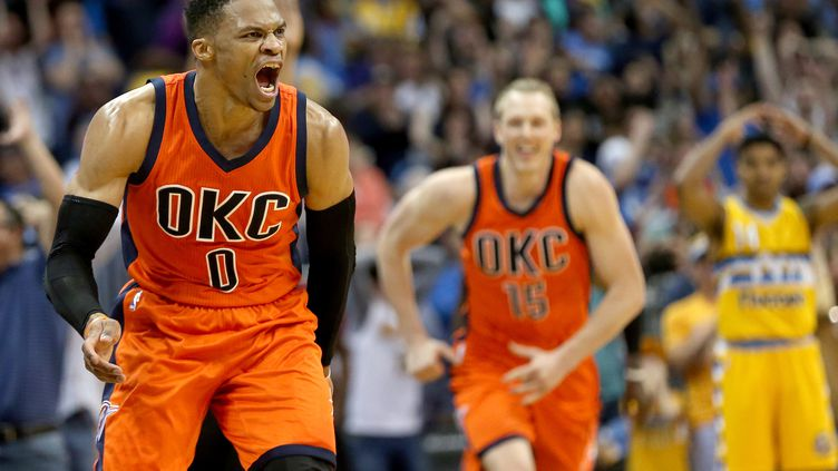 Russell Westbrook entre dans l'histoire de la NBA (MATTHEW STOCKMAN / GETTY IMAGES NORTH AMERICA)