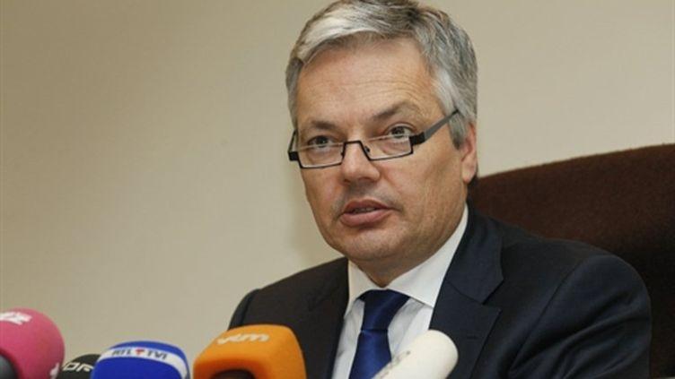 Le libéral francophone Didier Reynders, ministre des Finances sortant et médiateur entre partis (16/11/2011). (AFP/BELGA/BRUNO FAHY)