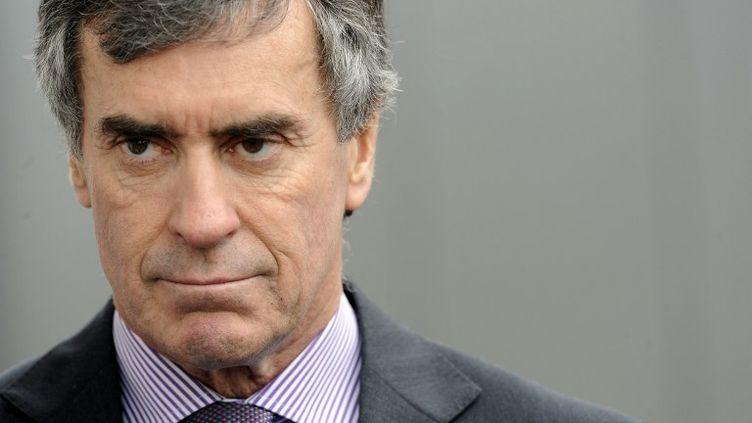 L'ex-ministre du Budget,Jérôme Cahuzac, à Bassens, près de Bordeaux (Gironde), le 7 mars 2013. (JEAN-PIERRE MULLER / AFP)