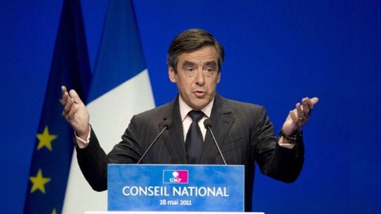 François Fillon au conseil national de l'UMP, le 28 mai 2011 (AFP/Bernard Langlois)