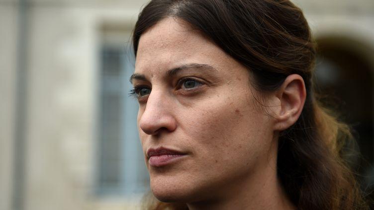 La secrétaire d'Etat aux victimes Juliette Meadel accompagne le premier ministre à Montargis le 19 septembre 2016. (GUILLAUME SOUVANT / AFP)