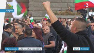En Bulgarie, des manifestants ont lieu contre la hausse des prix du carburant. (France 3)