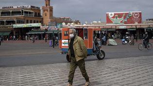 Place Jamaa el-Fnaà Marrakech,16 mars 2020. (FADEL SENNA / AFP)