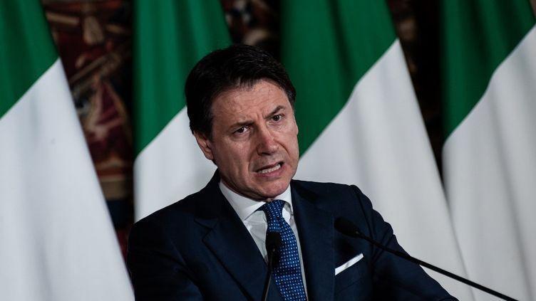 Le Premier ministre italien, Giuseppe Conte, à Naples (Italie), le 27 février 2020. (MANUEL DORATI / CONTROLUCE / AFP)
