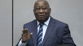 L'ancien président ivorien, Laurent Gbagbo, le 15 janvier 2019 à la Cour pénale internationale, à La Haye (Pays-Bas). (PETER DEJONG / ANP)