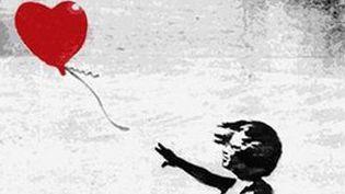Le dessin proposé par Banky reprenait ce thème de la fille au ballon qui a été décliné sous différentes formes.  (Banksy)