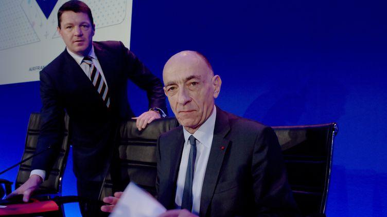Jean-Marc Janaillac, PDG d'Air France-KLM, le 16 février 2018, à Paris. (ERIC PIERMONT / AFP)