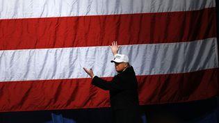 Le candidat Donald Trump à Sterling Heights, dans la banlieue de Détroit (Miichigan) pendant la campagne présidentielle le 7 novembre 2016. (AFP)