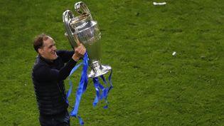 L'entraîneur allemand de Chelsea Thomas Tuchel avec la Ligue des champions, le 29 mai 2021. (SUSANA VERA / POOL)