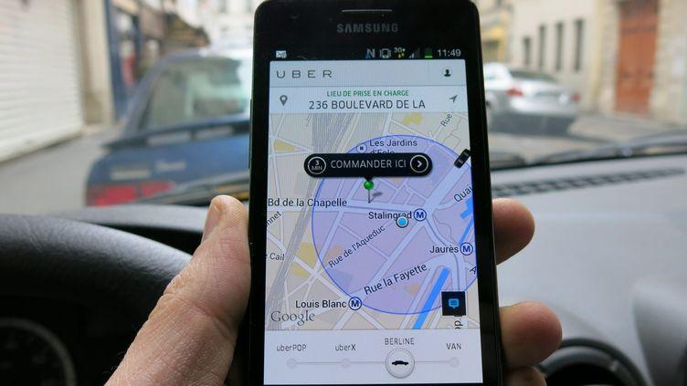 (UberPop peut continuer d'exister, la cour d'appel de Paris vient de reporter sa décision sur ce service de la société Uber © MaxPPP)