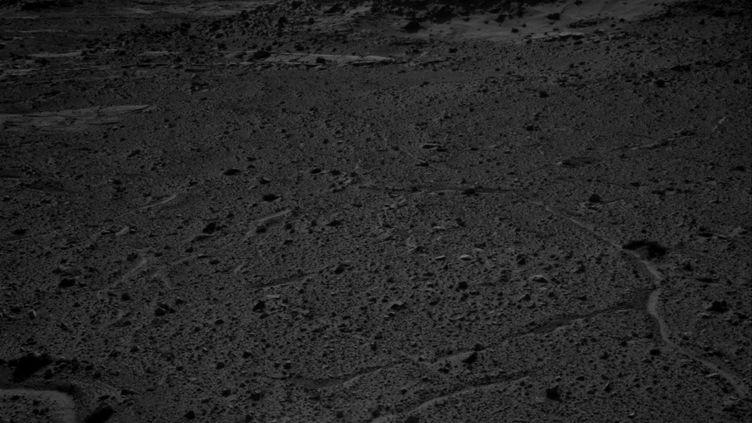 Au loin, une lueur semble sortir du sol. Des martiens ou une illusion due à l'appareil photo ? ( NASA)