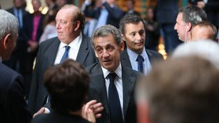 Nicolas Sarkozy avant sonmeeting à Marcq-en-Barœul (Nord), le 21 septembre 2016. (MAXPPP)