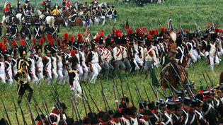 En bBelgique les figurants se préparent pour le bicentenaire de la bataille de Waterloo.17 juin 2015. (CITIZENSIDE/BRICE CHARTON / CITIZENSIDE.COM)