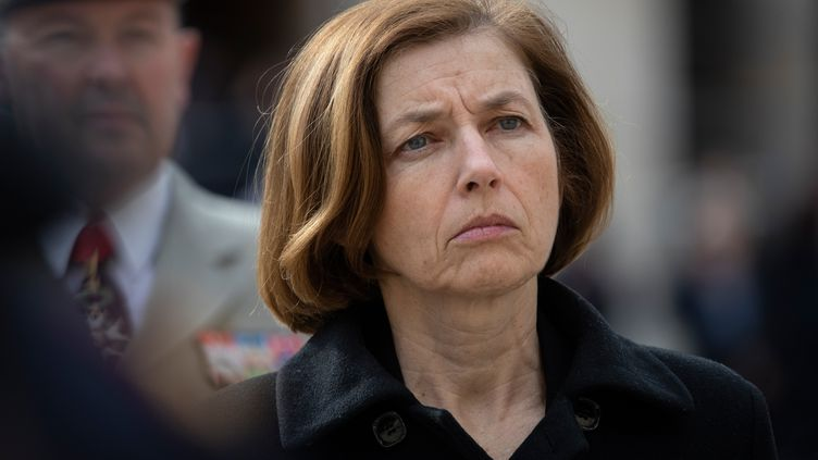La ministre des Armées, Florence Parly, aux Invalides, à Paris, le 8 avril 2019. (THOMAS SAMSON / AFP)