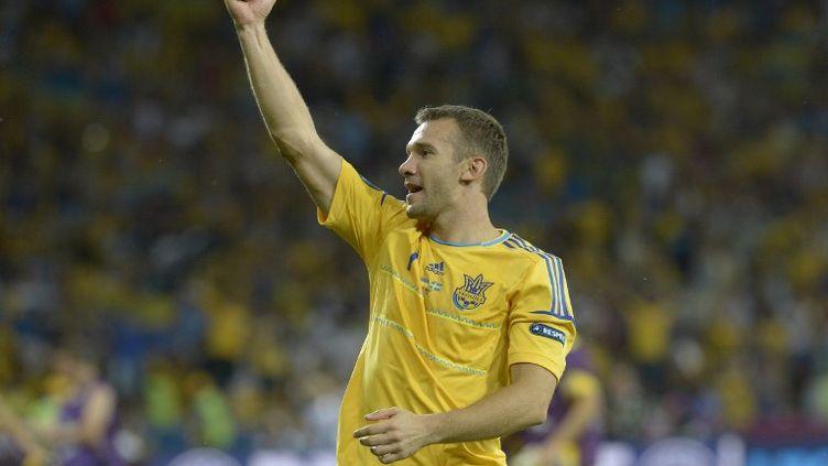 L'Ukrainien Chevtchenko à l'issue du match de l'Euro 2012 remporté 2 - 1 par l'Ukraine face à la Suède, lundi 11 juin 2012. (JONATHAN NACKSTRAND / AFP)