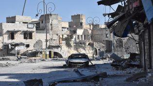 Le quartier de Babal-Hadid à Alep, le 8 décembre 2016. (GEORGE OURFALIAN / AFP)