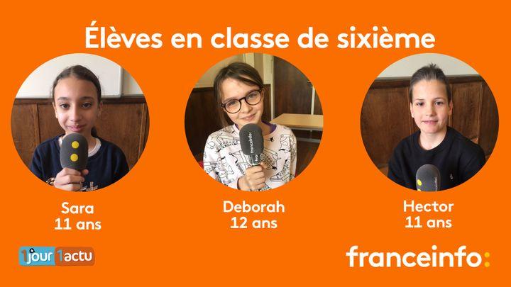 franceinfo junior, une émission en partenariat avec le magazine d'actualités pour enfants 1jour1actu et 1jour1actu.com. (FRANCEINFO / RADIOFRANCE)