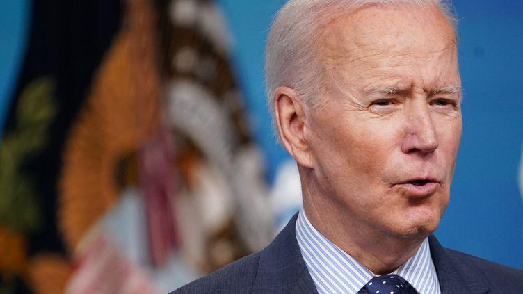 Le président des Etats-Unis, Joe Biden, lors d'un discours sur le Covid-19 à Washington, le 2 juin 2021. (MANDEL NGAN / AFP)