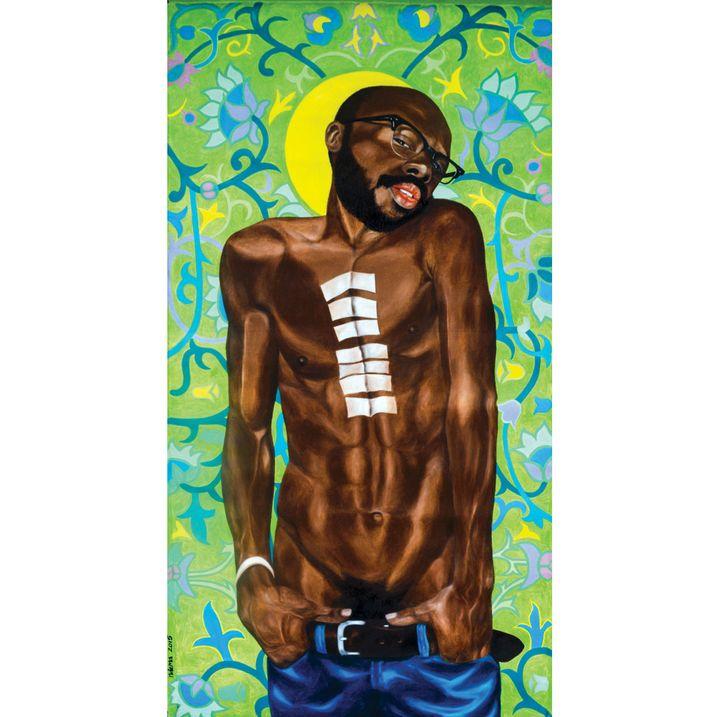 "Paul Ndema, ""St Sebastian"", 2015  (Asteria Malinzi. Courtesy art Paul Ddema et Circle Art Gallery)"